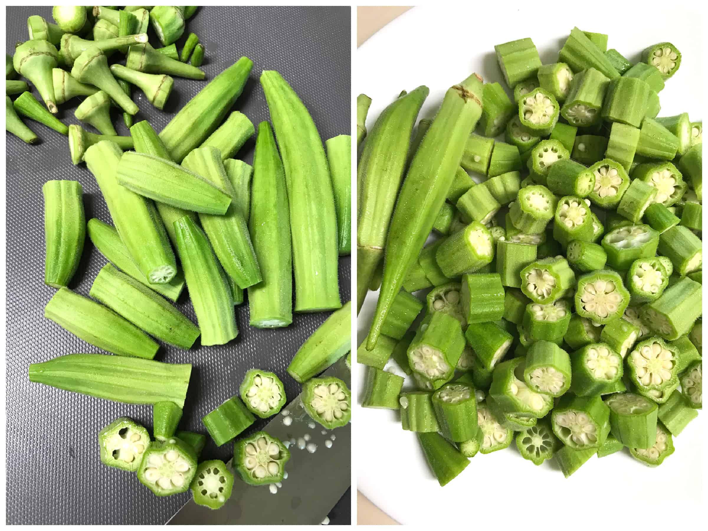 slicing veggies
