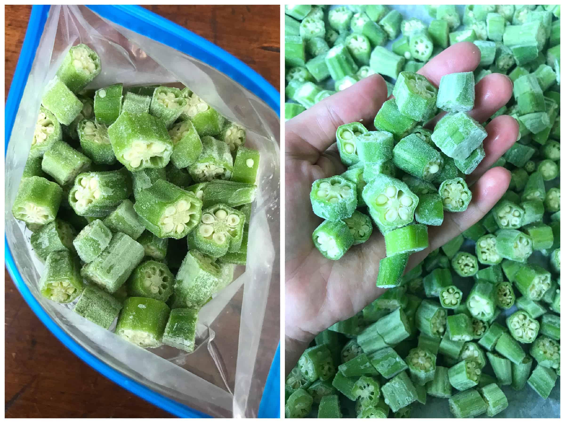 how to freeze okra no blanching