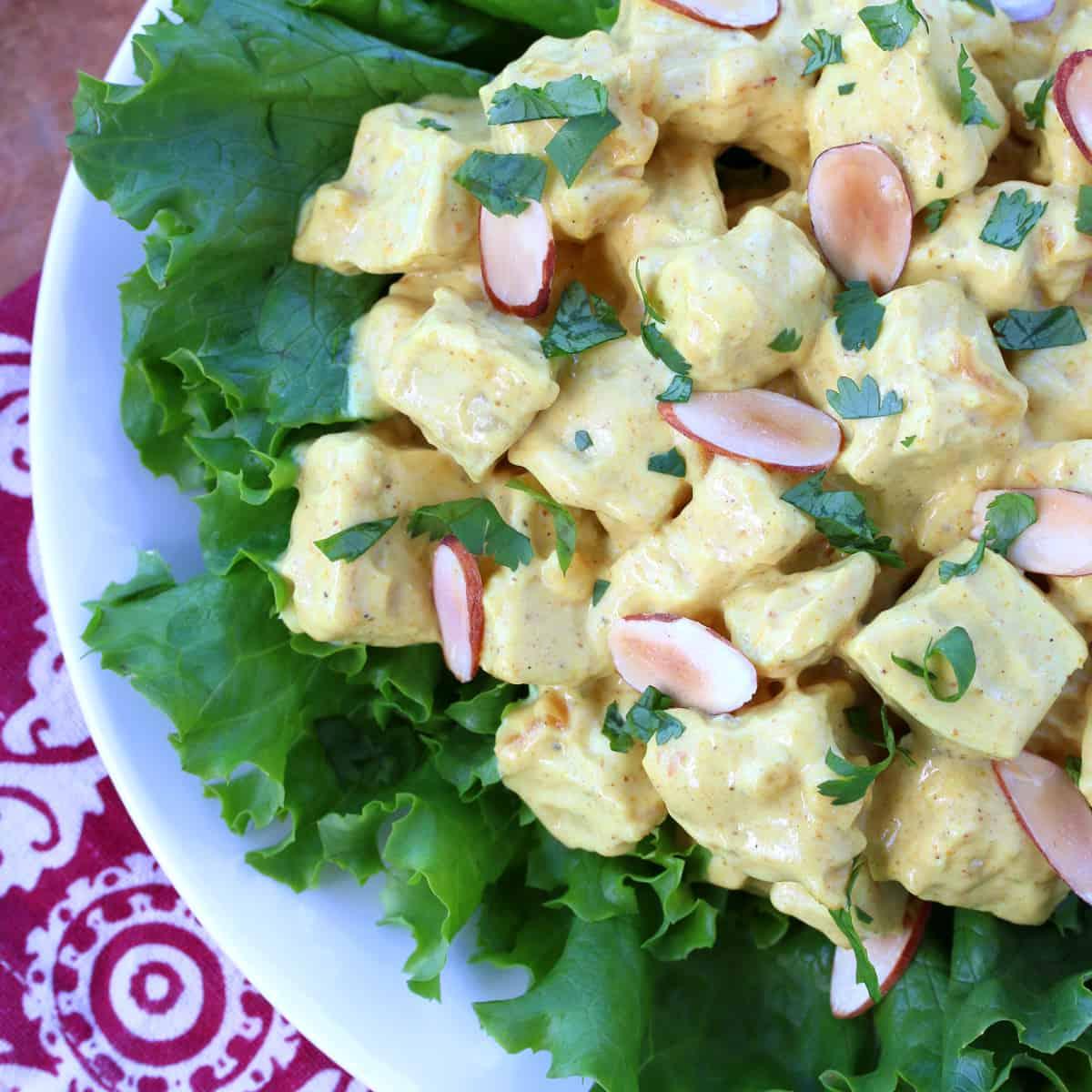 coronation chicken recipe best Queen Elizabeth England British English curry powder mango apricot almonds