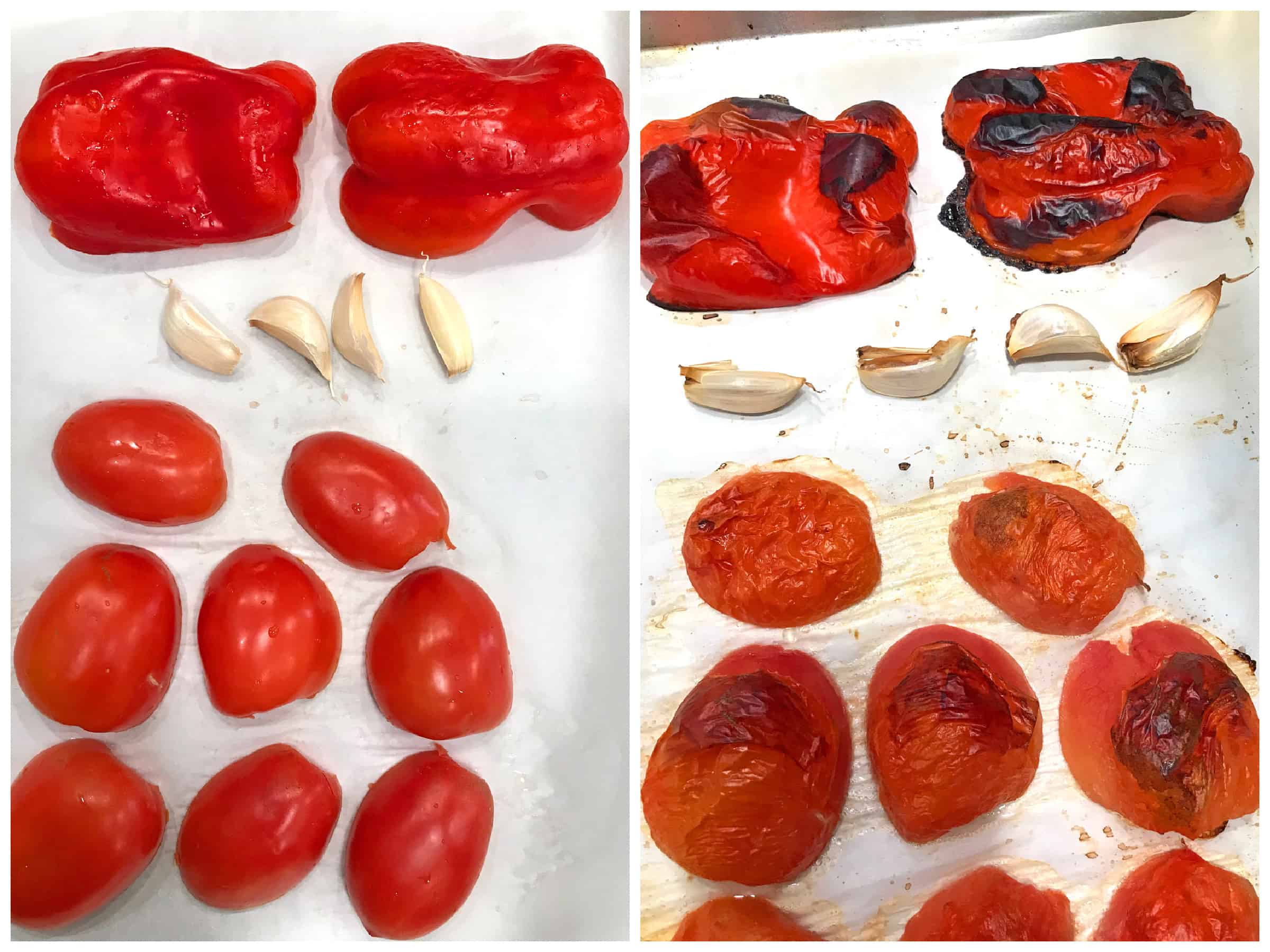 grilled tomatoes peppers garlic