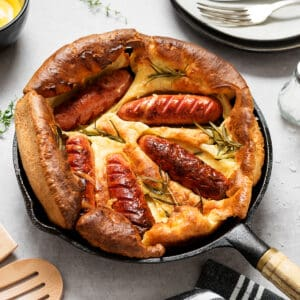 toad in the hole recipe best authentic british sausages yorkshire pudding